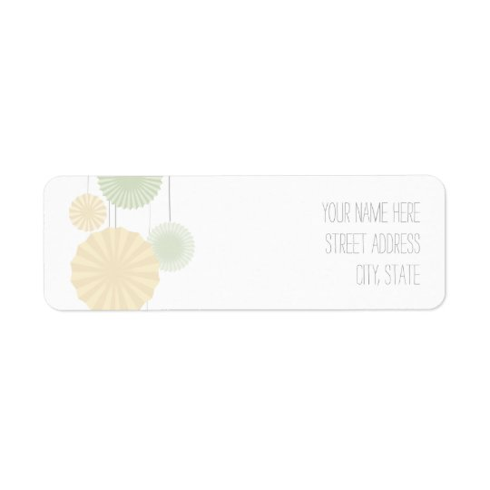 Mint Rosettes Address Label
