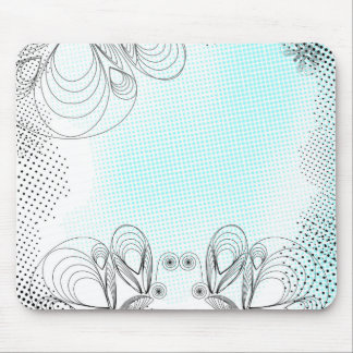 Mint rustic vintage background with halftones mouse pad
