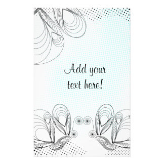 Mint rustic vintage background with halftones stationery