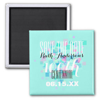 Mint Save the date Centennial Personalized Magnet