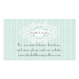 Mint Scrolls and Ribbons Wedding Website Business Card Templates