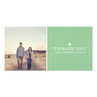 Mint Simply Chic Photo Wedding Thank You Cards Photo Card