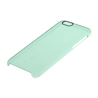 Mint Solid Colour Clear iPhone 6/6S Case