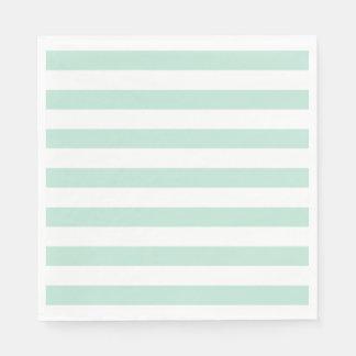Mint stripe paper napkin