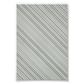Mint Striped Background Poster