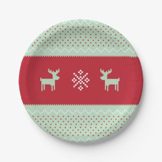 Mint Sweater Weather Plate 7 Inch Paper Plate