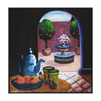 Mint tea Morocco Canvas Print