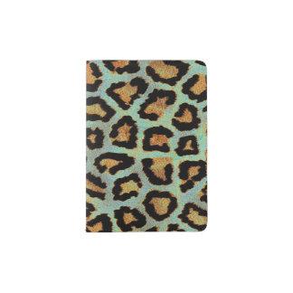 Mint Tease me teal  Leopard print pass port holder