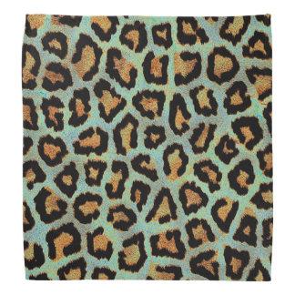 Mint Tease me teal  Leopard print style bandanna