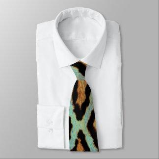 Mint Tease me teal  Leopard print tie