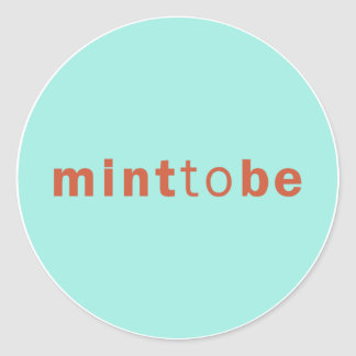 MINT TO BE - MINT WEDDING FAVOR LABEL