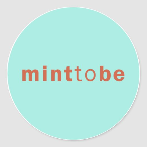 MINT TO BE - MINT WEDDING FAVOR LABEL ROUND STICKERS