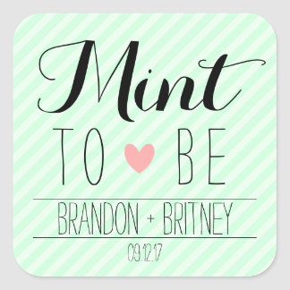 Mint to Be Wedding Stickers
