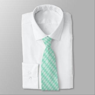 Mint Triangle - Diamond pattern with white stripes Tie