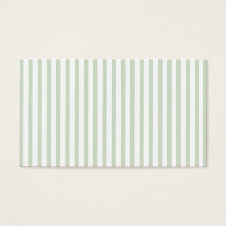 Mint Vertical Stripes Business Card