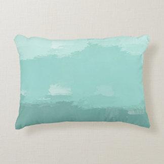 Mint Watercolor Ombre Decorative Cushion