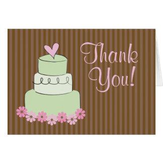 "Mint Wedding Cake ""Thank You"" Card"