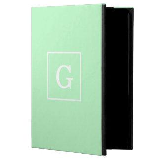 Mint White Framed Initial Monogram iPad Air Cases