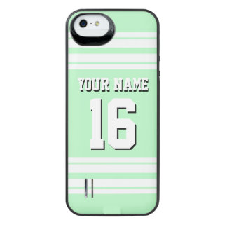 Mint White Team Jersey Custom Number Name