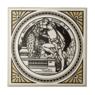 Minton Shakespeare Romeo & Juliet Tile 1870s Repro