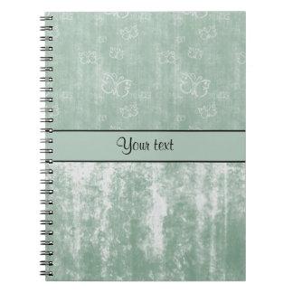 Minty Butterflies Notebook