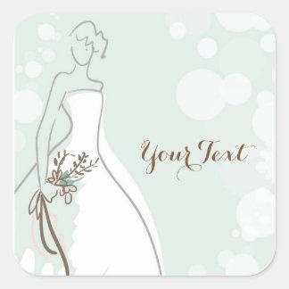 Minty Fresh Bride Square Sticker
