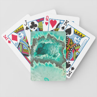 Minty Geode Crystals Bicycle Playing Cards
