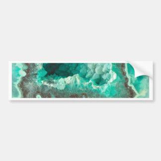 Minty Geode Crystals Bumper Sticker