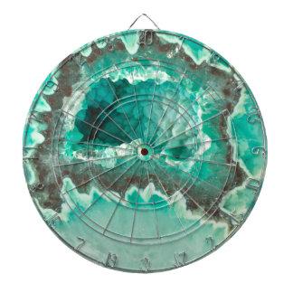 Minty Geode Crystals Dartboard