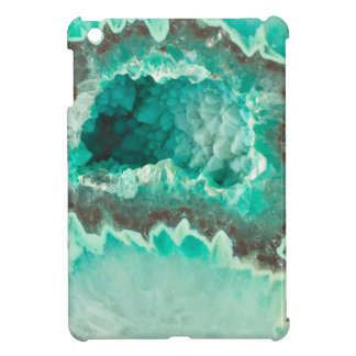 Minty Geode Crystals iPad Mini Covers