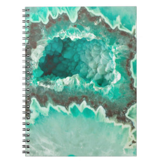 Minty Geode Crystals Notebook