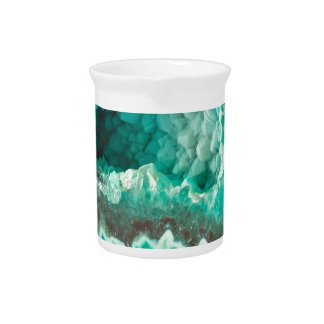 Minty Geode Crystals Pitcher