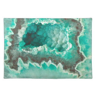 Minty Geode Crystals Placemat