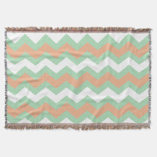 Minty Green and Peach Zigzags