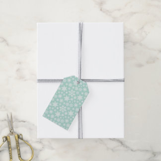Minty Green Holiday Snowflakes