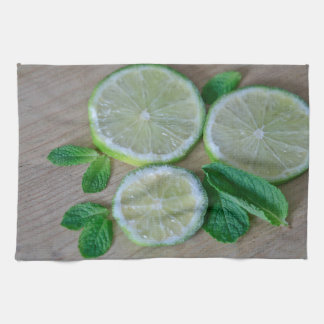 Minty Limes Hand Towels