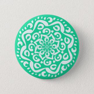 Minty Mandala 6 Cm Round Badge