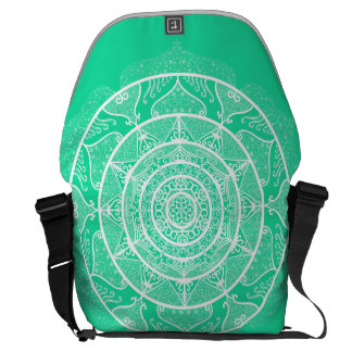 Minty Mandala Commuter Bag