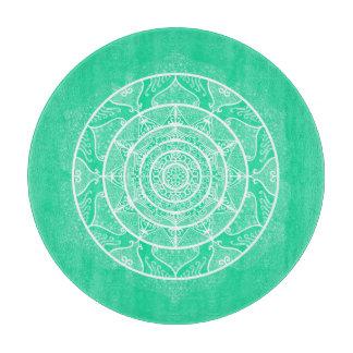 Minty Mandala Cutting Board