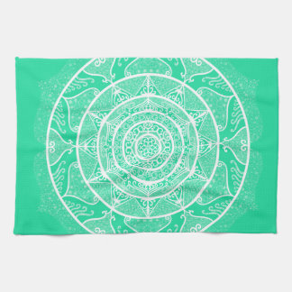 Minty Mandala Tea Towel