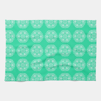Minty Mandala Tea Towel