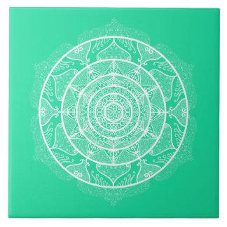 Minty Mandala Tile
