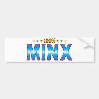 Minx Star Tag v2 Bumper Sticker