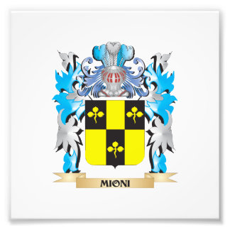 Mioni Coat of Arms - Family Crest Art Photo
