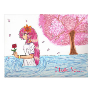 Mio's Missing Heart 'I Love You' Postcard