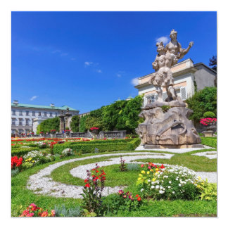 Mirabell palace and gardens, Salzburg, Austria 13 Cm X 13 Cm Square Invitation Card