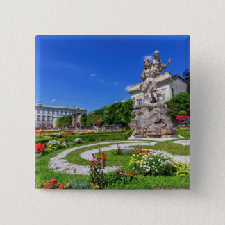 Mirabell palace and gardens, Salzburg, Austria 15 Cm Square Badge