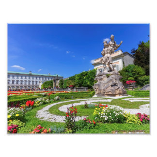 Mirabell palace and gardens, Salzburg, Austria Photo Print