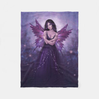 Mirabella Purple Butterfly Fairy Fleece Blanket