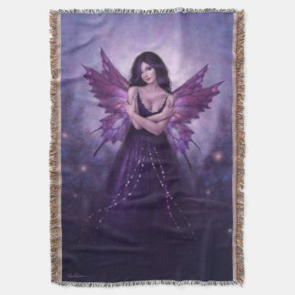 Mirabella Purple Butterfly Fairy Throw Blanket